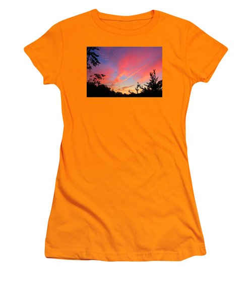 Women's T-Shirt (Junior Cut) featuring the photograph The Color Gets Good by Kathryn Meyer
