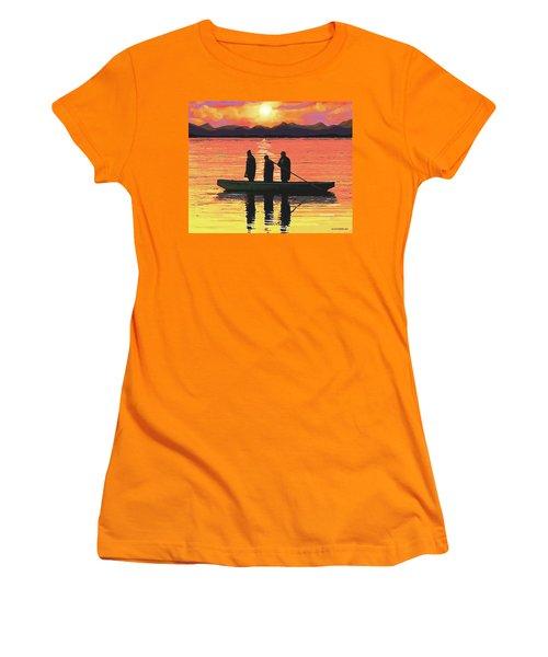 The Fishermen Women's T-Shirt (Junior Cut) by Sophia Schmierer