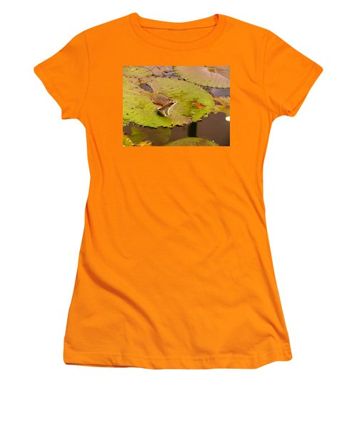 Women's T-Shirt (Junior Cut) featuring the photograph The Frog by Evelyn Tambour