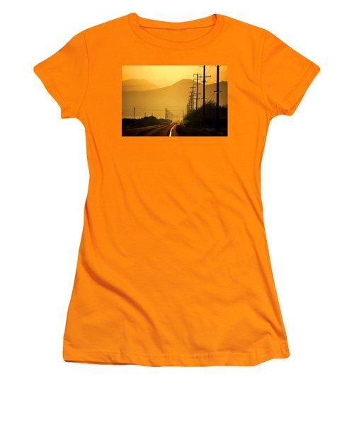 The Golden Road Women's T-Shirt (Junior Cut) by Matt Harang