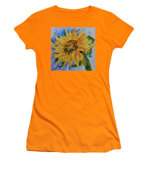 This Here Sunflower Women's T-Shirt (Junior Cut) by Beverley Harper Tinsley
