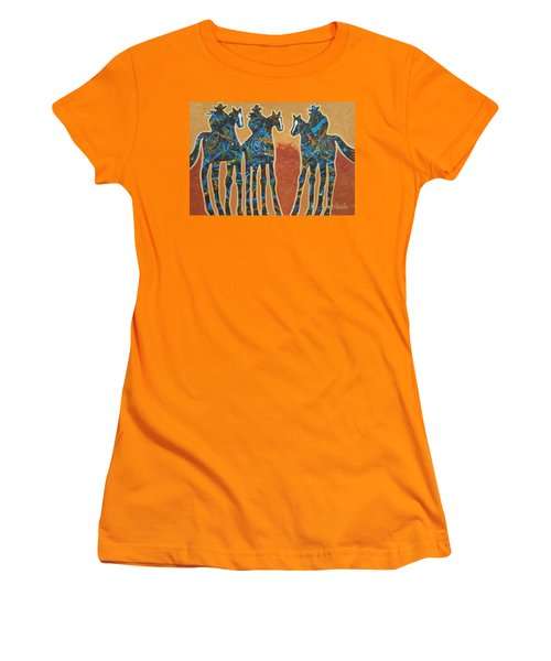 Three With Rope Women's T-Shirt (Athletic Fit)