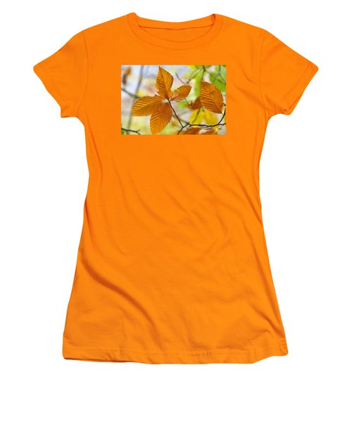 Women's T-Shirt (Junior Cut) featuring the photograph Touch Of Gold by Jan Amiss Photography
