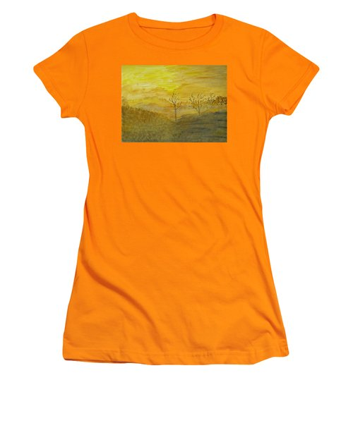 Touch Of Gold Women's T-Shirt (Athletic Fit)