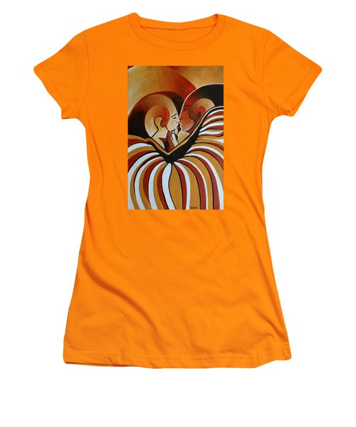 Women's T-Shirt (Junior Cut) featuring the painting Touched By Africa I by Tracey Harrington-Simpson
