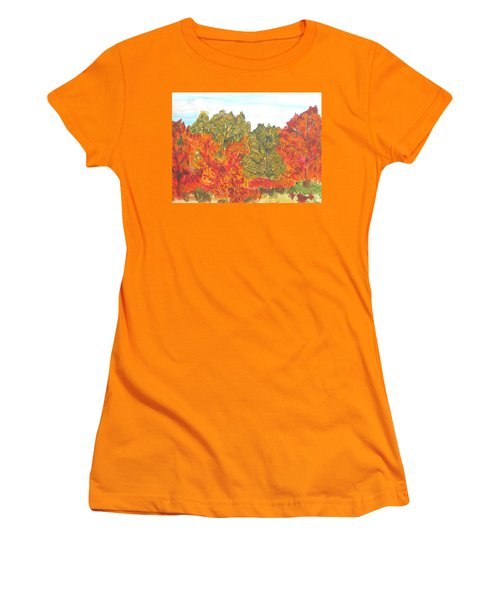 Trees Of Fall Women's T-Shirt (Athletic Fit)