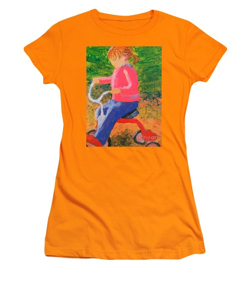 Women's T-Shirt (Junior Cut) featuring the painting Tricycle by Donald J Ryker III