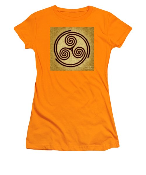 Triskelion  Women's T-Shirt (Junior Cut) by Olga Hamilton