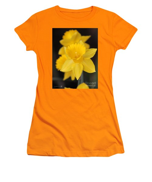 Trumpet Daffodil Named Exception Women's T-Shirt (Junior Cut) by J McCombie