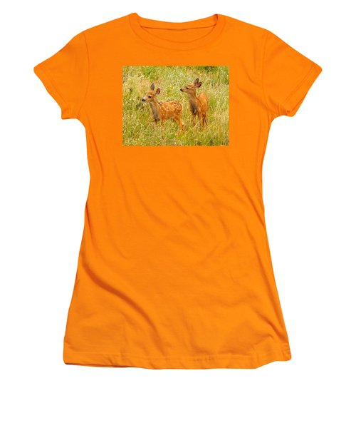 Twin Fawns Women's T-Shirt (Athletic Fit)