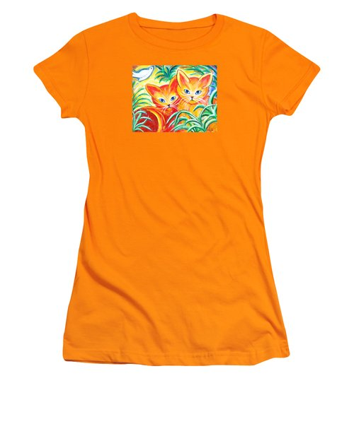 Two Cats Women's T-Shirt (Junior Cut)