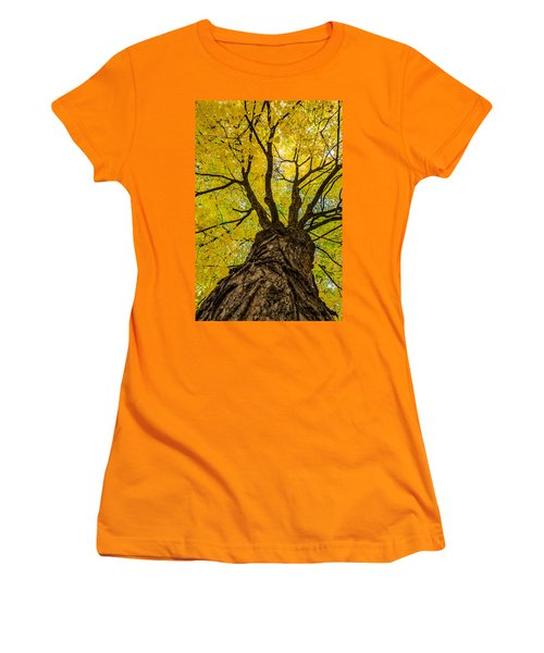 Under The Yellow Canopy Women's T-Shirt (Junior Cut) by Debra Martz