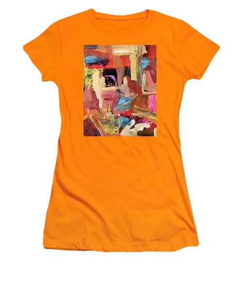 Untitled Abstract Women's T-Shirt (Junior Cut) by Erika Pochybova