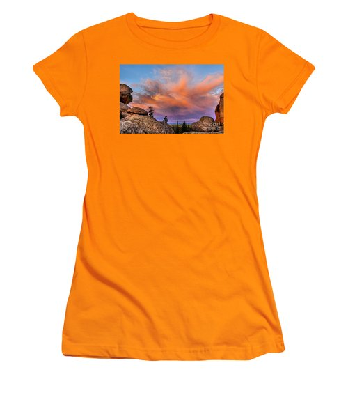 Vedauwoo Sunrise Women's T-Shirt (Junior Cut) by Steven Reed