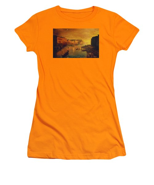 Venice From The Rialto Bridge Women's T-Shirt (Athletic Fit)