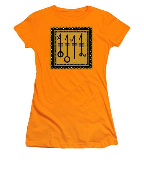 Women's T-Shirt (Junior Cut) featuring the digital art Viking Sleepthorn Spell by Vagabond Folk Art - Virginia Vivier
