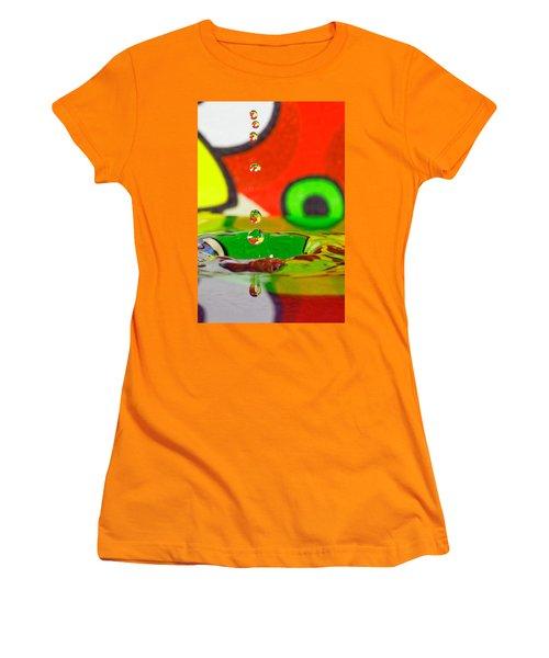Women's T-Shirt (Junior Cut) featuring the photograph Water Dew by Peter Lakomy