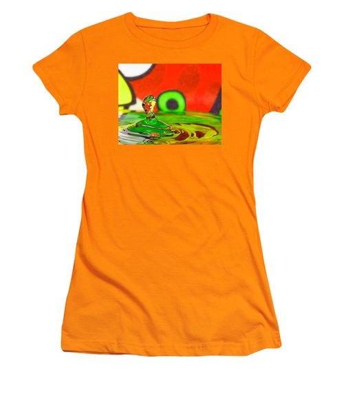 Women's T-Shirt (Junior Cut) featuring the photograph Water Hill by Peter Lakomy