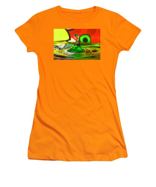 Women's T-Shirt (Junior Cut) featuring the photograph Water Stick by Peter Lakomy