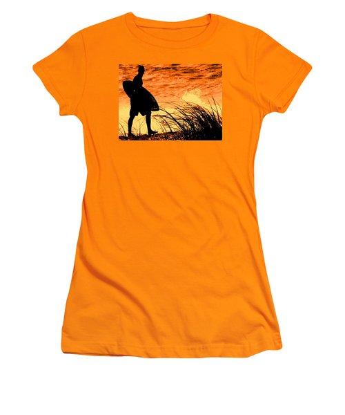 Wave Search Women's T-Shirt (Junior Cut) by Ian  MacDonald