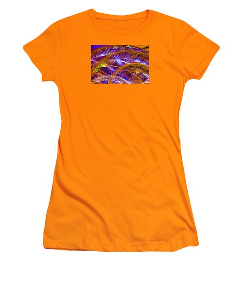 Women's T-Shirt (Junior Cut) featuring the photograph Wheels by Michael Nowotny