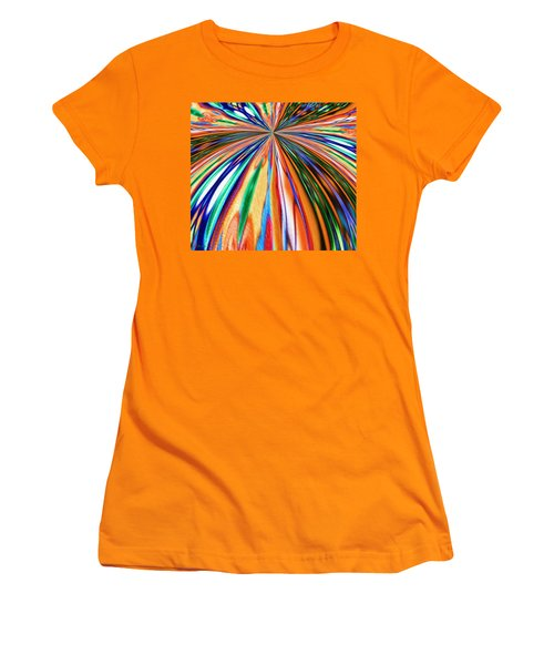 Where It All Began Abstract Women's T-Shirt (Athletic Fit)