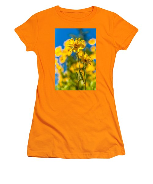 Wildflowers Standing Out Women's T-Shirt (Junior Cut) by Chad Dutson