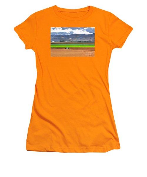 Winter Farm In California Women's T-Shirt (Junior Cut) by Susan Wiedmann