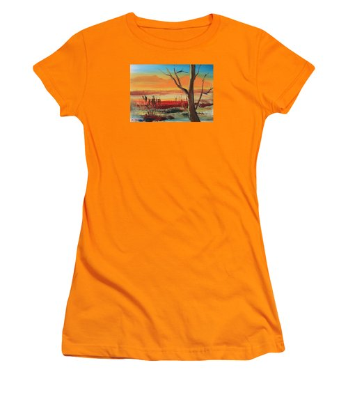 Withered Tree Women's T-Shirt (Junior Cut) by Remegio Onia
