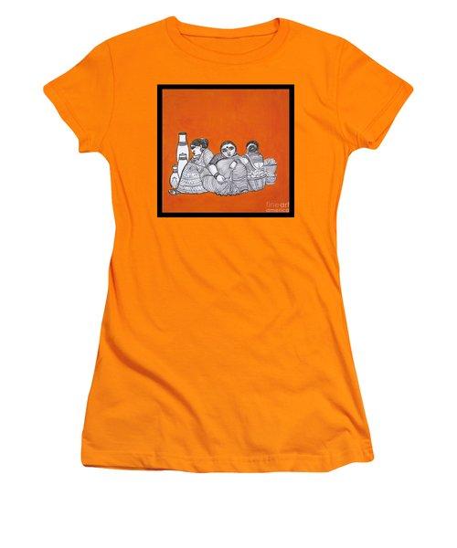 Women Vendors In Market Women's T-Shirt (Athletic Fit)