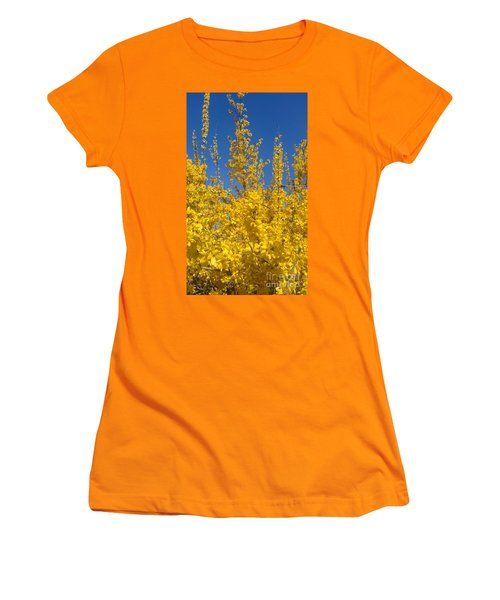 Yellow Explosion Women's T-Shirt (Athletic Fit)