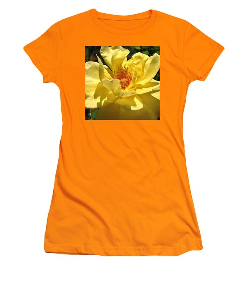 Yellow Monday Rose Women's T-Shirt (Athletic Fit)