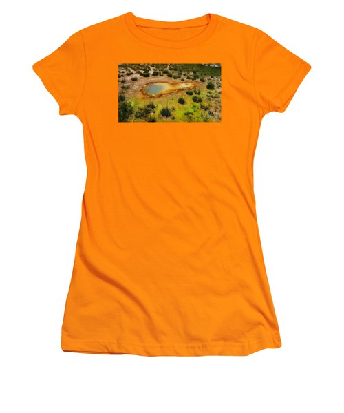 Yellowstone Hot Pool Women's T-Shirt (Athletic Fit)