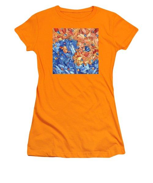 Women's T-Shirt (Junior Cut) featuring the painting Yin-yang by James W Johnson