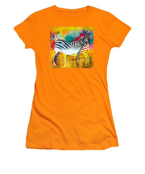 Zebra Colors Of Africa Women's T-Shirt (Athletic Fit)