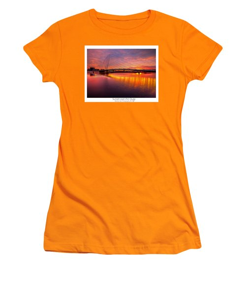 Women's T-Shirt (Junior Cut) featuring the photograph  Sunset Over The Quay by Beverly Cash
