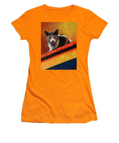 A Top Cat In The Shadow Women's T-Shirt (Athletic Fit)