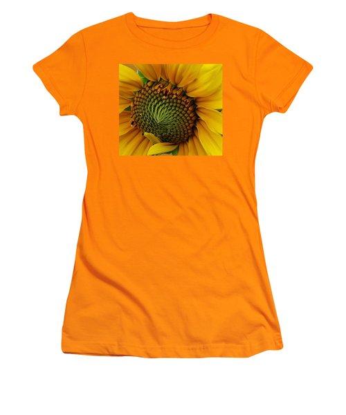 Sunflower Close Up Women's T-Shirt (Junior Cut) by Bruce Bley