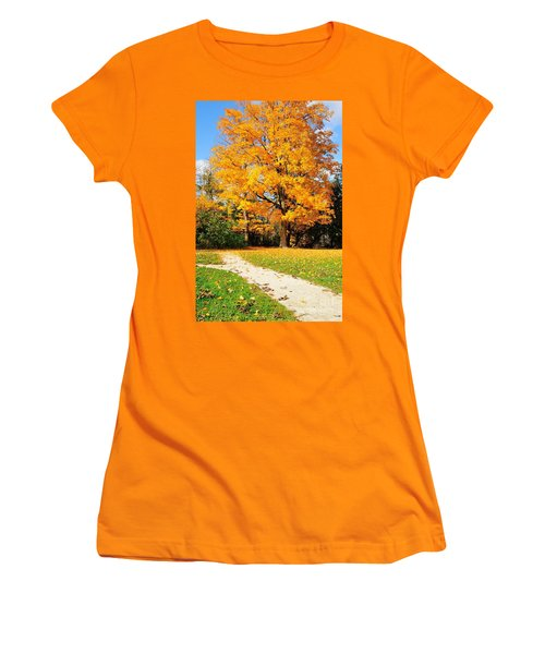 Women's T-Shirt (Junior Cut) featuring the photograph Tree Of Gold by Joe  Ng