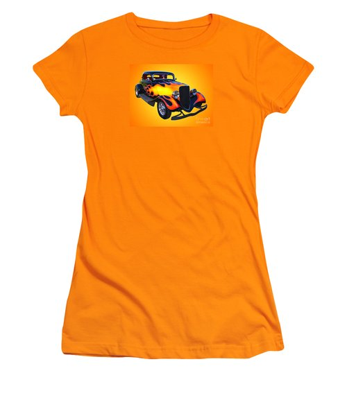 1934 Ford 3 Window Coupe Hotrod Women's T-Shirt (Athletic Fit)