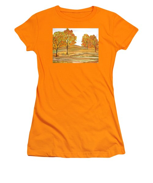 A Bit Of Fall Women's T-Shirt (Athletic Fit)