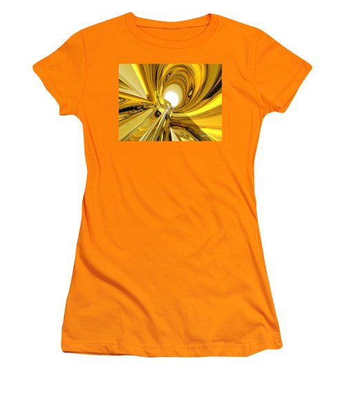 Women's T-Shirt (Junior Cut) featuring the digital art Abstract Gold Rings by Phil Perkins