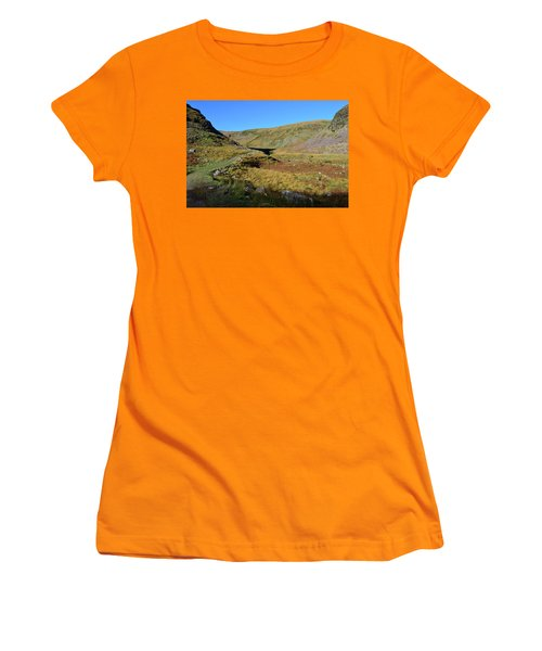 Annascaul Lake And Mountains Women's T-Shirt (Athletic Fit)