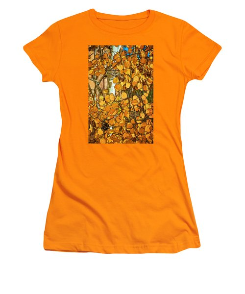 Aspens Gold Women's T-Shirt (Athletic Fit)