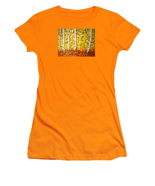 Autumn Aspens Women's T-Shirt (Athletic Fit)