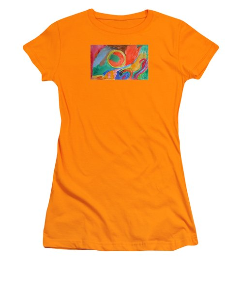 Women's T-Shirt (Junior Cut) featuring the painting Before Conception by Francine Frank