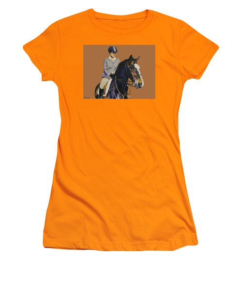 Concentration - Hunter Jumper Horse And Rider Women's T-Shirt (Athletic Fit)