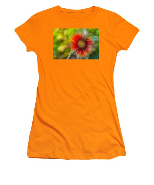 Dalia Pseudo Fractal Women's T-Shirt (Junior Cut) by Lynne Jenkins