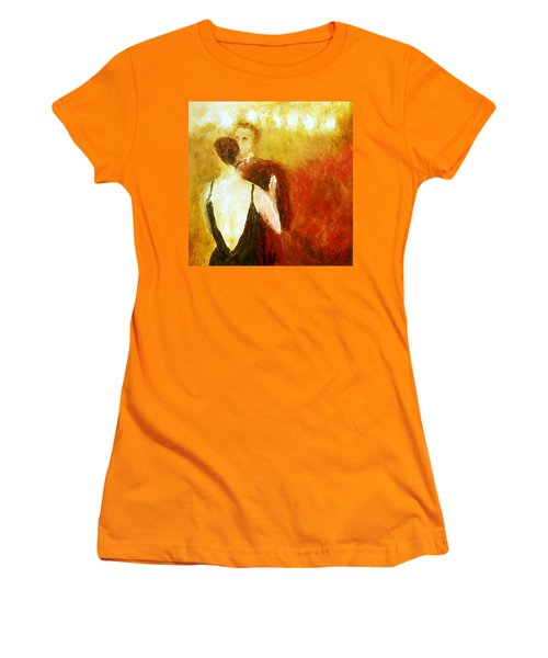 Women's T-Shirt (Junior Cut) featuring the painting Enchanted Evening by Keith Thue