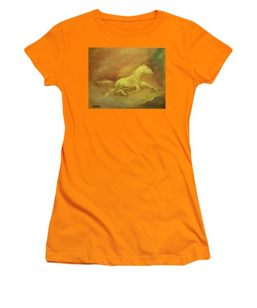 Women's T-Shirt (Junior Cut) featuring the painting Escaping The Flames by George Pedro